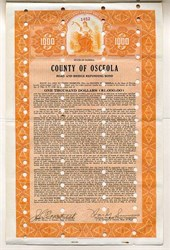 County of Osceola Road and Bridge Refunding Bond - Florida 1936