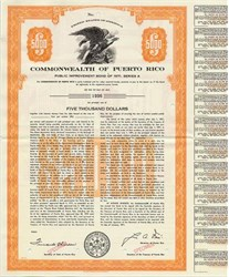 Commonwealth of Puerto Rico Public Improvement Bond - Puerto Rico 1971