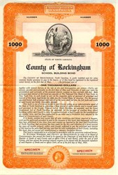 County of Rockingham School Building Bond - North Carolina 1934