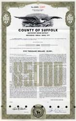 County of Suffolk Bond - New York 1977
