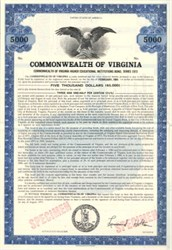 Commonwealth of Virginia Higher Educational Institutions Bonds - Virginia 1973