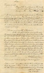 Commonwealth of Virginia 10 Page Legal Document - Loudon County, Virginia 1843