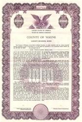 County of Wayne County Building Bond - North Carolina 1959