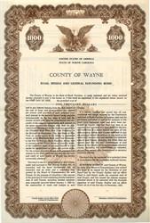 County of Wayne Road, Bridge and General Refunding Bond - North Carolina 1959