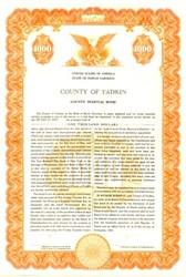 County of Yadkin County Hospital Bond - North Carolina 1959