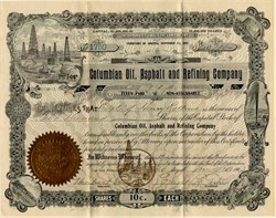 Columbian Oil, Asphalt and Refining Company - Territory of Arizona 1903