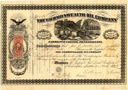 Commonwealth Oil Company - Lawrence County, Pennsylvania 1864
