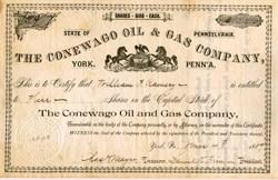 Conewago Oil & Gas Company - York, Pennsylvania 1889