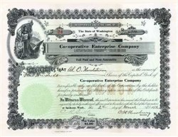 Co-operative Enterprise Company 1912 - Washington State