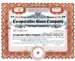 Co-Operative Glass Company 1920 - Los Angeles