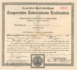 Cooperative Tuberculosis Eradication 1930