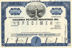 Columbia Pictures Industries, Inc.(Scarce Specimen) - Delaware  1979