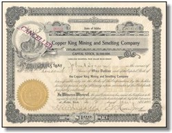 Copper King Mining and Smelting Company 1910