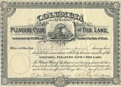 Columbia Pleasure Club of Fox Lake- Chicago, Illinois 1886