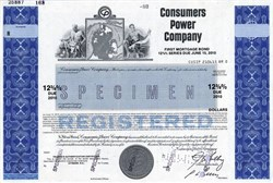 Consumers Power Company (Now Consumers Energy) - Michigan