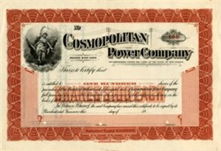 Cosmopolitan Power Company - New Jersey 1900