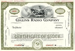 Collins Radio Company (Rare Specimen) - Early Ham Radio Manufacturer