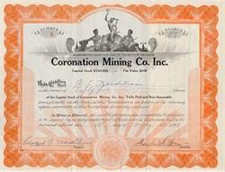 Coronation Mining Company Stock