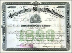 Corporation of the City of Baltimore 1888