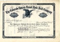 Colorado Rotary Hand Rock Drill Company - 18__