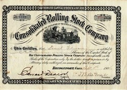 Consolidated Rolling Stock Company - Connecticut 1904