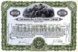 Continental Roll & Steel Foundry Company - 1941