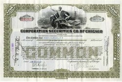 Corporation Securites Company of Chicago 1930