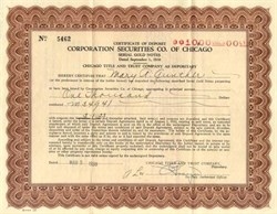 Corporation Securities Company of Chicago 1938