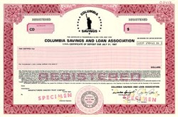 Columbia Savings and Loan Association (Famous Junk bond Bankruptcy) - Beverly Hills 1983