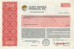 Coast Savings Financial, Inc.- Delaware 1988