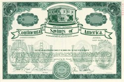 Continental Savings of America - Specimen - San Francisco,  California 1988