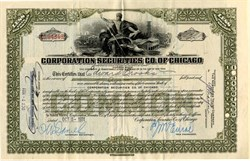 Corporation Securities Co. of Chicago (Samuel Insull Holding Company)- Illinois 1931