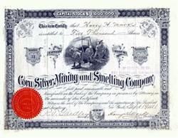 Cora Silver Mining and Smelting Company - New York - Deadwood, Dakota 1881