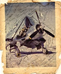 Corsair Photo Hand Signed by Corsair production line workers during WWII