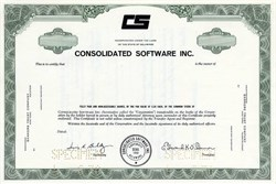 Consolidated Software Inc. - Delaware - 1970
