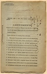 "Confederate States Amendment Booklet stamped ""Record Division, War Department: Rebel Archives"" - 1863"