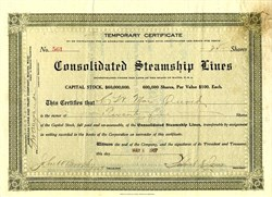 Consolidated Steamship Lines - Maine 1907