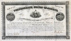 Confederate States of America - Vignette of Commerce on a Bale of Cotton - May 5, 1862 Ball #49