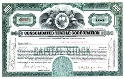 Consolidated Textile Corporation - Delaware 1927