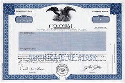 Colonial Trust Company (Now GoldStar Trust Company) - Arizona 1989
