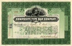 Composite Type Bar Company - New Jersey 1903