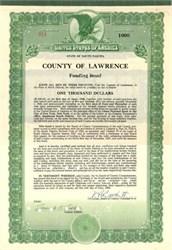 County of Lawrence Funding Bond 1928 - South Dakota