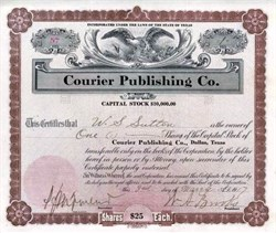 Courier Publishing Co. 1917 - Dallas, Texas