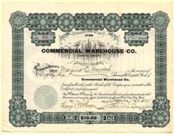 Commercial Warehouse Co. - Utah 1925