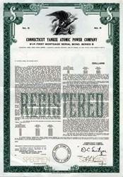 Connecticut Yankee Atomic Power Company - Rare Specimen Bond - 1977