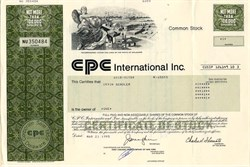 CPC International Inc. ( Became Bestfoods) - Delaware 1995