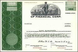 CP Financial Corp. ( Now First Union )
