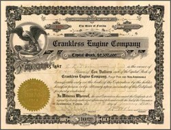 Crankless Engine Company 1928 - Florida