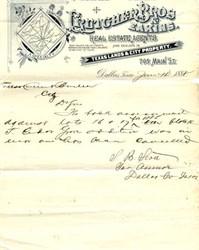 Crutcher Bros. & Eakins - 1888 Dallas Real Estate Agents