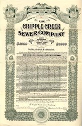 Cripple Creek Sewer Company - 1909